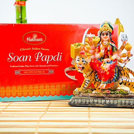 Blessings Of Maa Durga With Soan Papdi