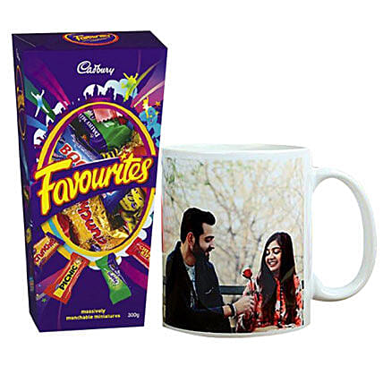 Cadbury Favorites And Personalised Mug Combo