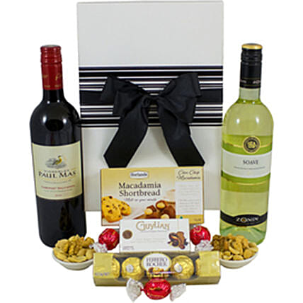Charismatic French And Italian Wine Hamper:Gift Hampers to Australia