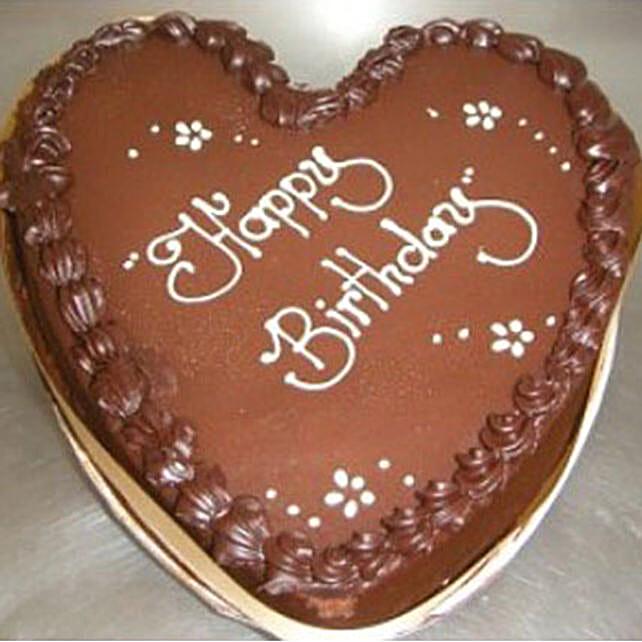 Chocolate Heart Shaped Cake:Send Birthday Cakes to Australia