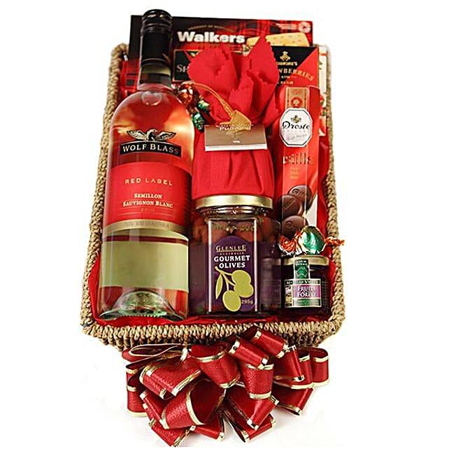 Christmas Greetings Hamper:Christmas Gift Baskets to Australia