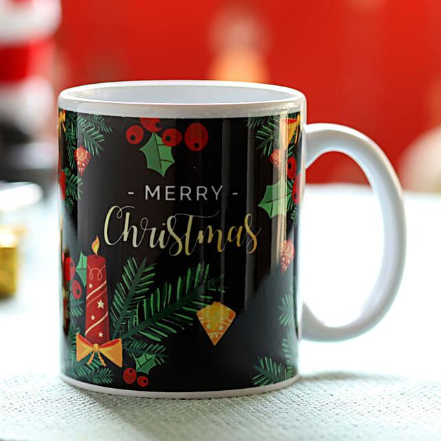 Online Merry Christmas Printed Mug
