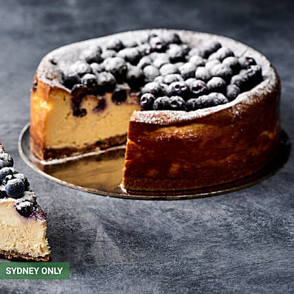 Delightful Blueberry Cheesecake:Thanksgiving Gift Delivery in Australia