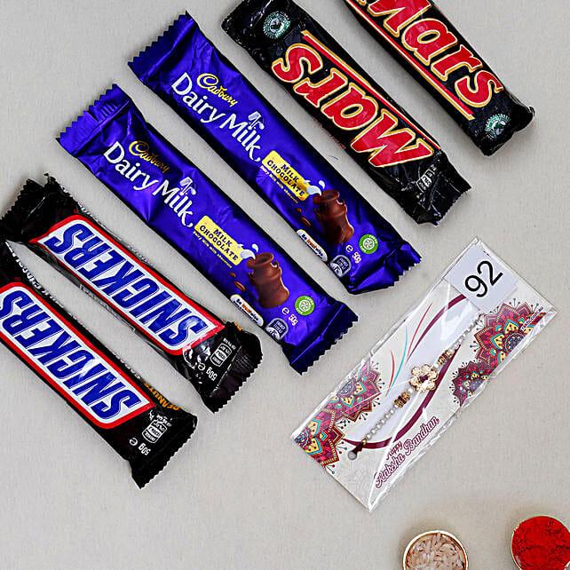 Designer Rakhi N Delicious Chocolates:Rakhi Gifts for Brother in Australia
