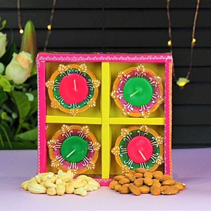 Diwali Diyas With Dry Fruits:Send Diwali Gifts to Australia