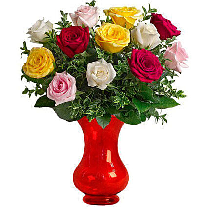 Dozen Assorted Roses:Rose Delivery in Australia