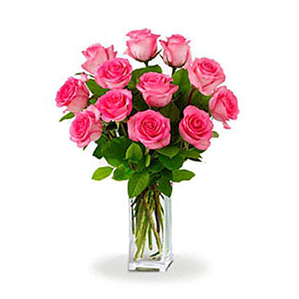 Dozen Pink Roses:Rose Delivery in Australia
