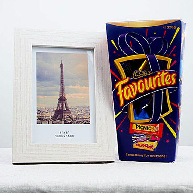 Favorite Chocolates N Photo Frame:Bhai Dooj Gift Delivery in Australia