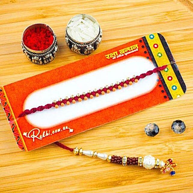 Favourites Bhaiya Bhabhi Two Rakhi Set