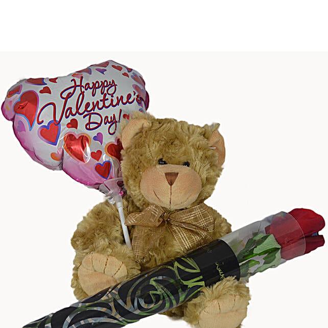 Georgie Teddy Combo:Valentine's Day Flower Delivery in Australia