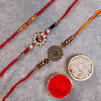 Gorgeous Rakhi Set Of 3