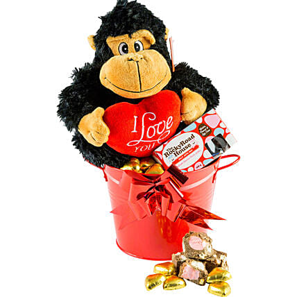 Gorilla Toy N Chocolates Hamper