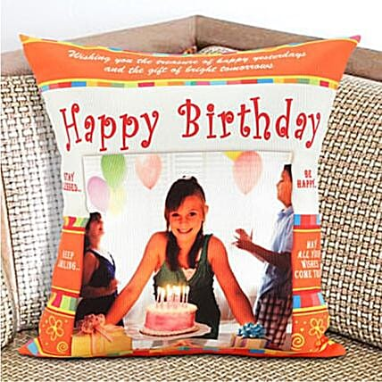 Happy Birthday Personalized Cushion:Personalised Gifts to Australia