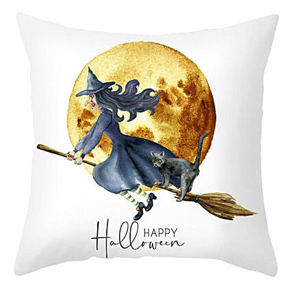 Happy Halloween Witch Cushion:Personalised Cushions to Australia
