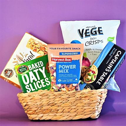 Healthy Vegetable Chips And Workout Bars Combo:Send Diwali Gifts to Australia
