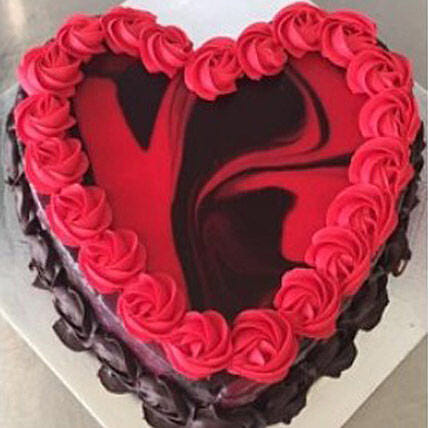 Heart Shaped Red Marble Cake:Send Valentines Day Cakes to Australia