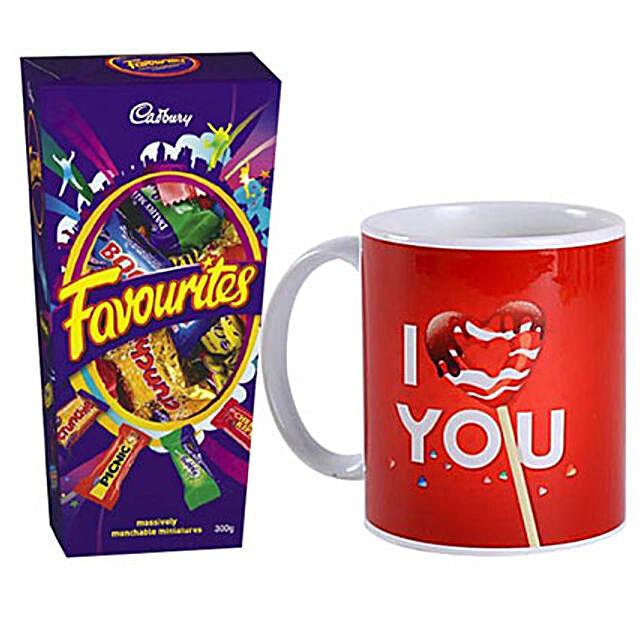 I Love You Mug And Cadbury Favorites Combo