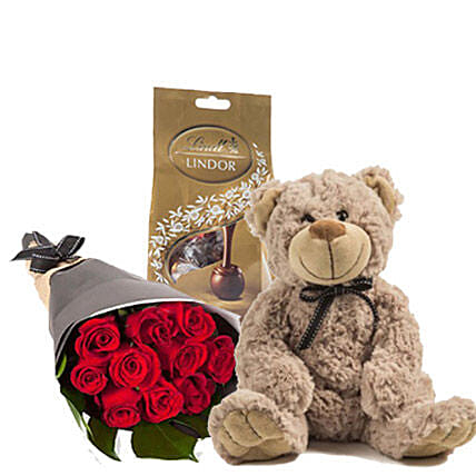 Lovely Red Roses Combo:Send Housewarming Flowers to Australia