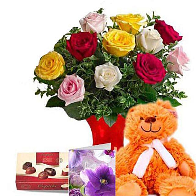Mixed Roses Valentine Combo