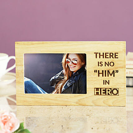 engrave greeting with photo wooden photo frame online