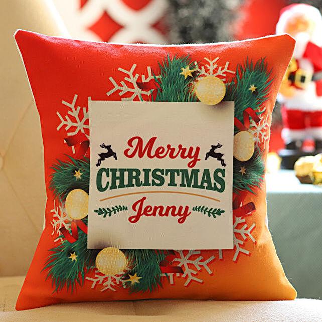Wishing you merry xmas cushion for her