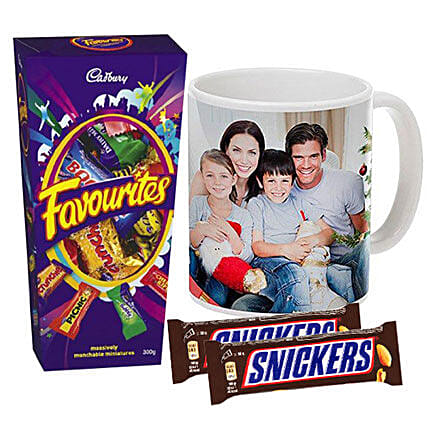 Personalised Mug With Chocolates Combo:Send Personalised Gifts to Australia