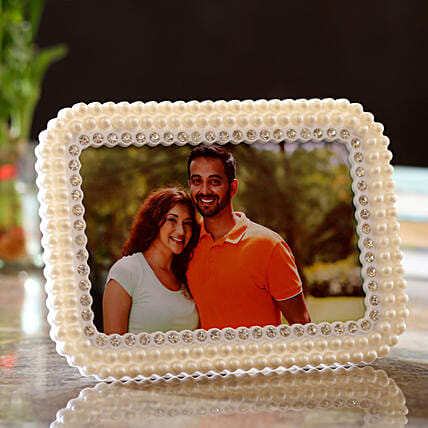 Personalised Pearly Edges Photo Frame