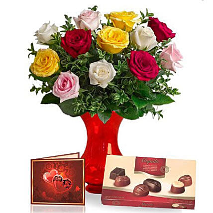 Premium Chocolates With Flowers
