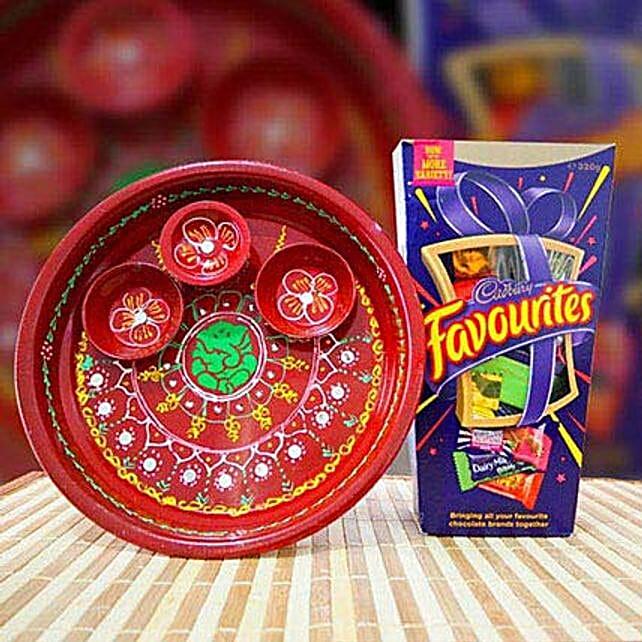 Puja Thali and Cadbury Favourites