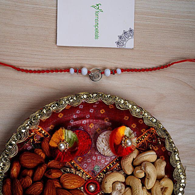 Rakhi With Nuts N Pooja Thali