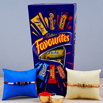 Set Of 2 Rakhis N Cadbury Favourites