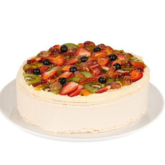 Sizzling White Fresh Fruit Cake:Send  Cakes to Australia