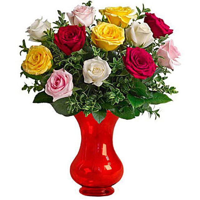 Dozen Assorted Roses:Send Housewarming Flowers to Australia