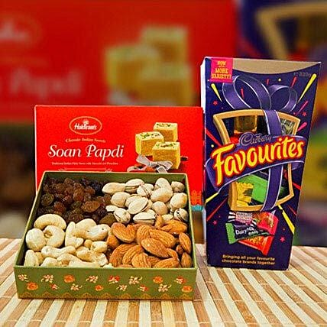 Soan Papdi Mix Dry Fruit and Cadbury Favourites