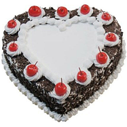 Heart Shaped Black Forest Cake:Valentine's Day Gift Delivery in Australia