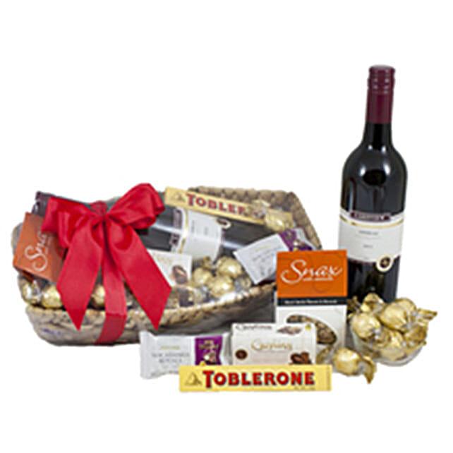 Delicious Treat Wine And Chocolates
