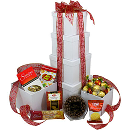 Sweet Tower Chocolates Fudges And Jelly Beans