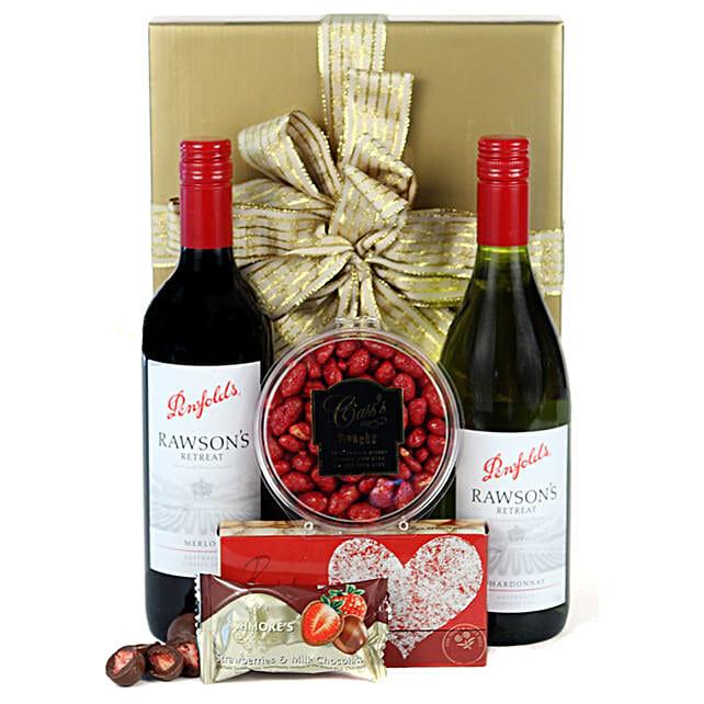 Red N White Wine Delight Hamper:Send Friendship Day Gifts to Australia
