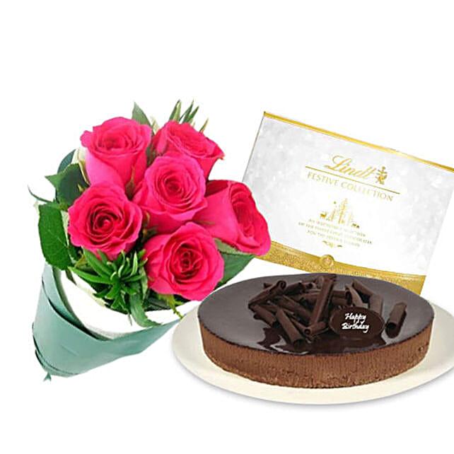 Flowers N Cheesecake Combo