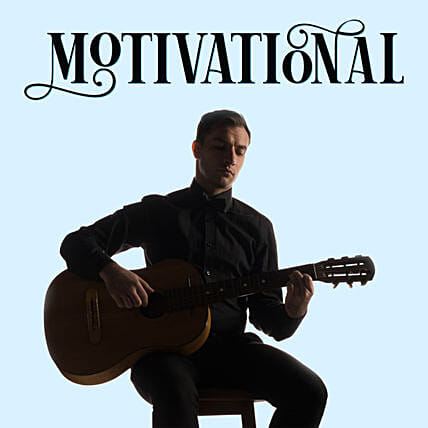 Motivational Melodies:Guitarist On Video Call In Australia