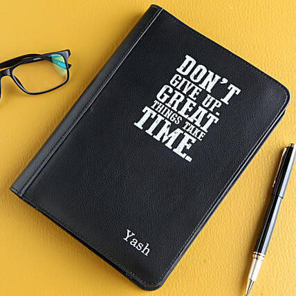 Personalised Leather Cover Classic Notebook