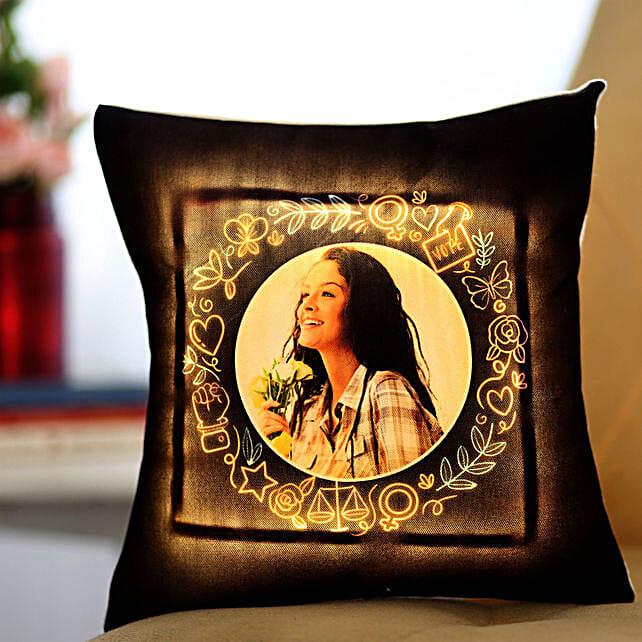 LED Women's Day Cushion Online