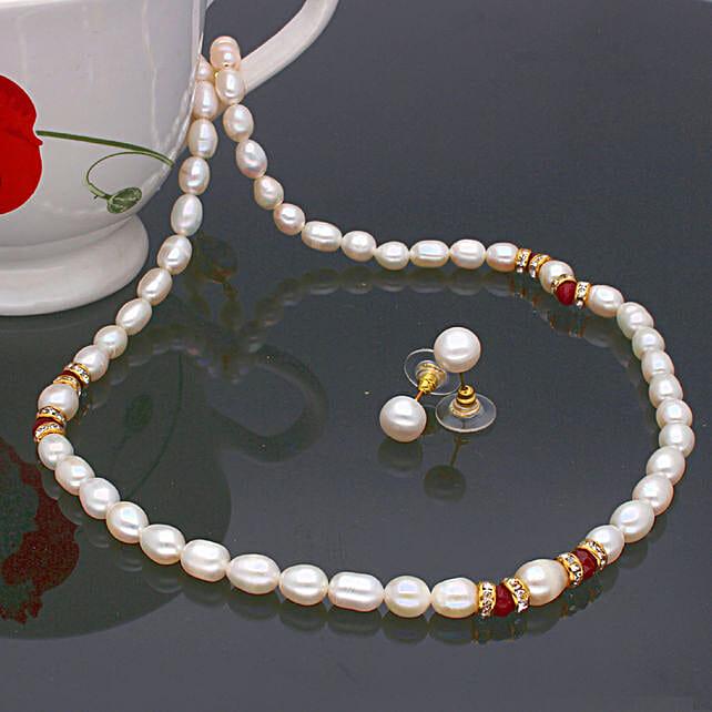 Navishka One Line  Pearl set