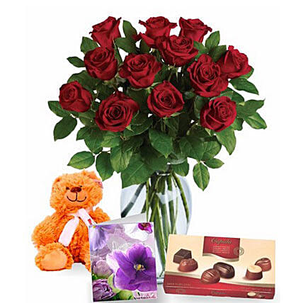 Valentine Love Expression Combo:Send Roses to Australia
