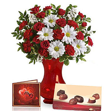Valentine Special Flowers N Chocolates:Flowers N Chocolates in Australia