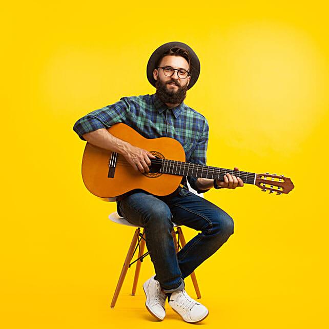 Guitarist on Video Call:Digital Gifts In Austria