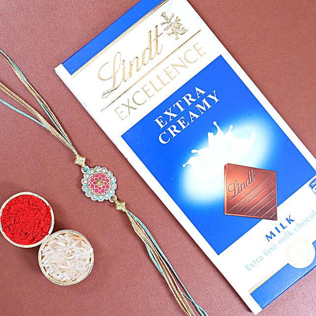 Stylish Rakhi N Lindt Chocolate