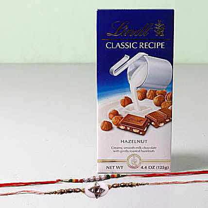 Lindt Classic With Set Of 2 Rakhis