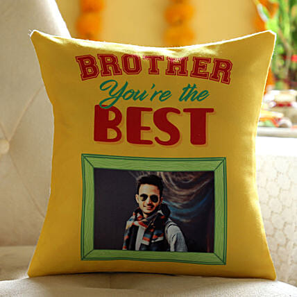 Online Personalised Cushion For Best Brother:Send Bhai Dooj Gifts to Bahrain