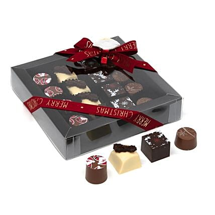 Chocomeli Pralines Christmas Box:Gift Delivery in Belgium